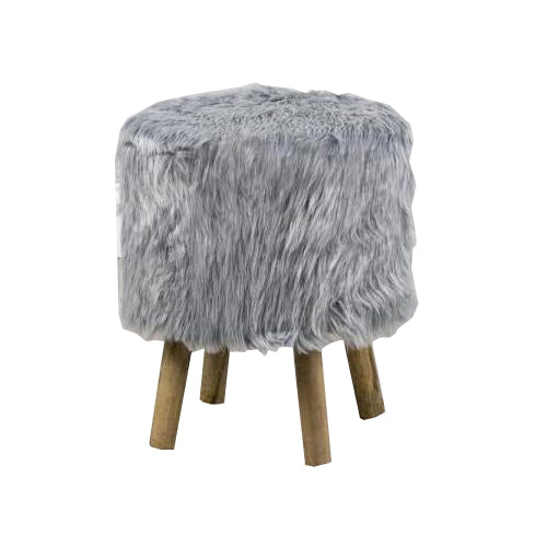 Vidal Round Stool, Grey