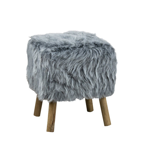Vidal Square Stool, Grey