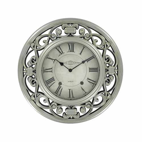 Dublin Clockworks Ornate Clock, 41cm, Champagne