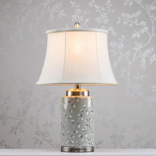 Ellie Ceramic Lamp, Grey, 59cm