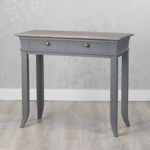 Hampton 2 Drawer Console/Hall Table, Grey