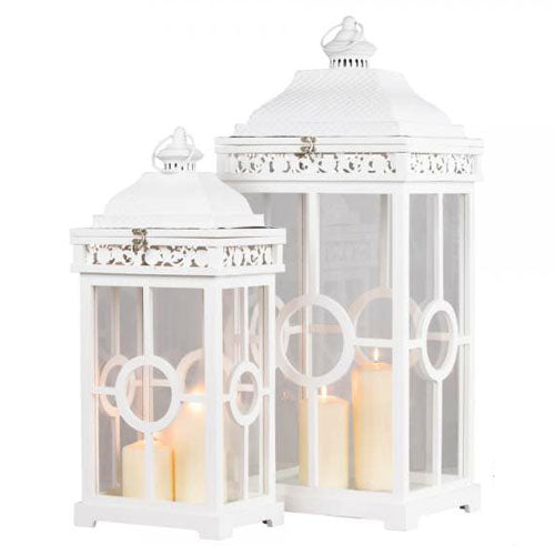 CAMBRIDGE LANTERN, WHITE, SMALL**DUE SOON**