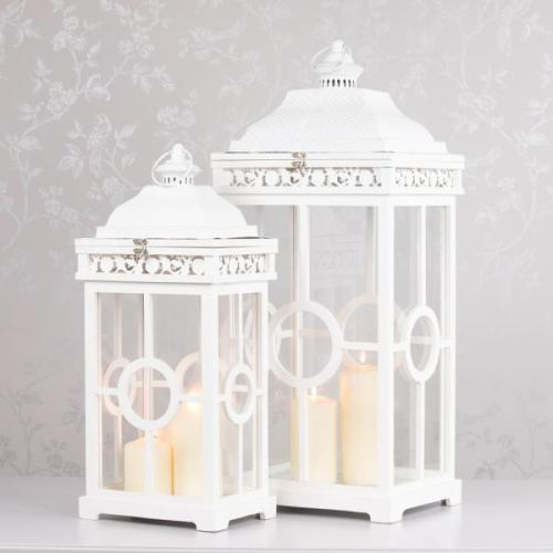 CAMBRIDGE LANTERN, WHITE, SMALL**LIMITED STOCK**