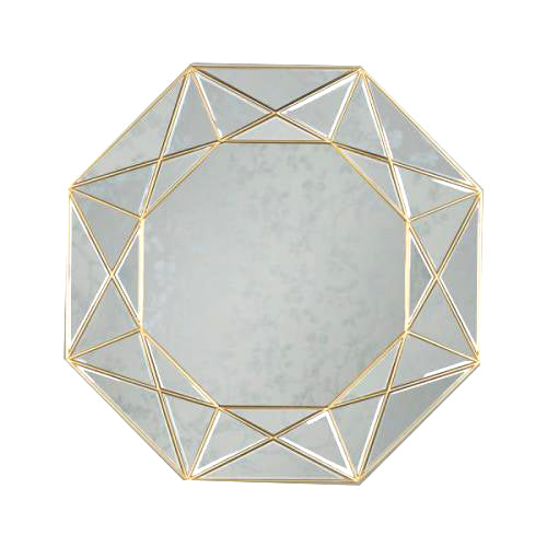 PRISM GEOMETRIC MIRROR GOLD, 90CM