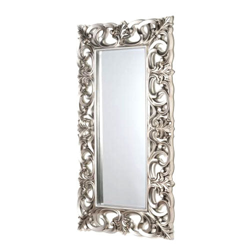 ABBEY LARGE ORNATE MIRROR,167CM X 91CM, ANTIQUE SILVER**COLLECT IN STORE ONLY**LOW STOCK**