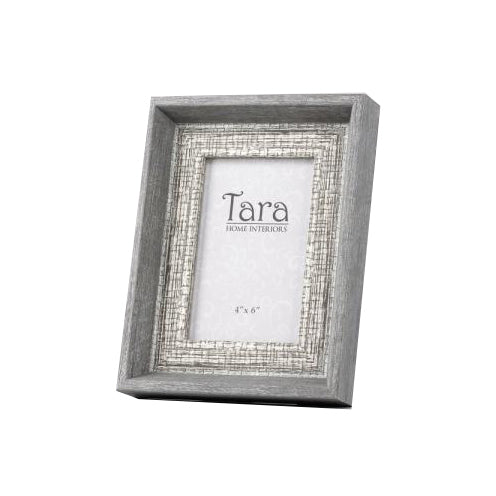 "Abigail Photo Frame, 4"" x 6"", Grey"