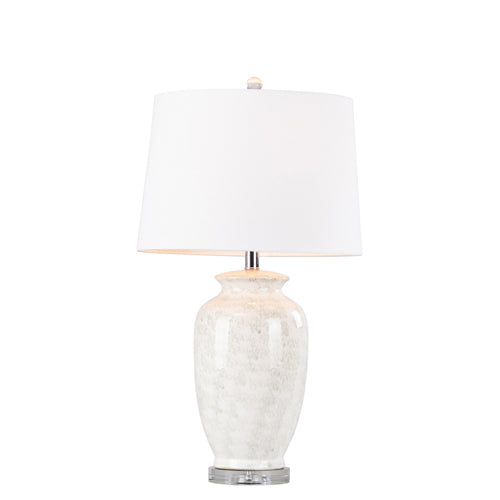 Cory Ceramic Lamp With Crystal Base, 74cm