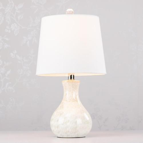 Cory Ceramic Lamp With Crystal Base, 51cm