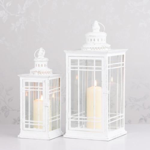 MAISEY SQUARE LANTERN, ANTIQUE WHITE, SMALL**LIMITED STOCK**