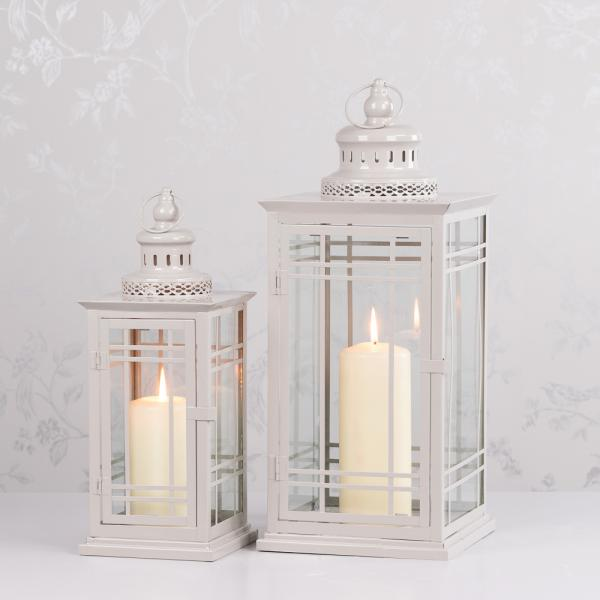 MAISEY SQUARE LANTERN, ANTIQUE GREY, SMALL**LIMITED STOCK**