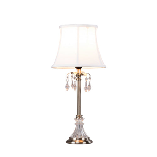 Scarlett Table Lamp, 57cm, Silver