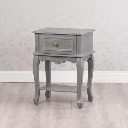 Lilly 1 Drawer Accent Table, Washed Grey