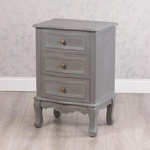 Lilly 3 Drawer Storage Cabinet, Washed Grey