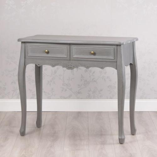 Lilly 2 Drawer Console Table, Washed Grey