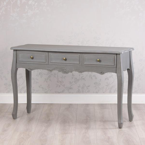 Lilly 3 Drawer Console/Hall Table, Washed Grey