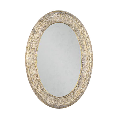 Amira Oval Mirror, 108cm x 74cm, Gold