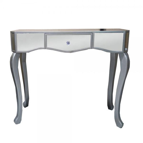 Reflections 1 Drawer Console Table With Curved Legs, 80cm