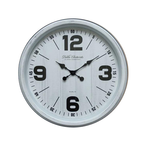 Retro Wall Clock, 50cm, Antique White