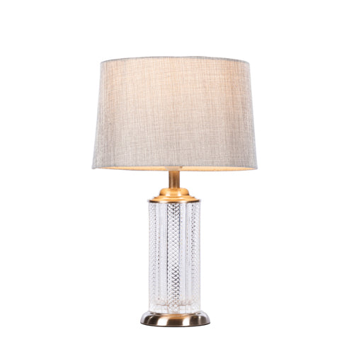 Lana Cylinder Table Lamp, 44cm, Charcoal