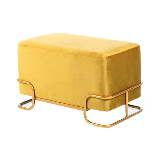 Tivoli Velvet Stool With Gold Legs, Mustard**DUE 2020**