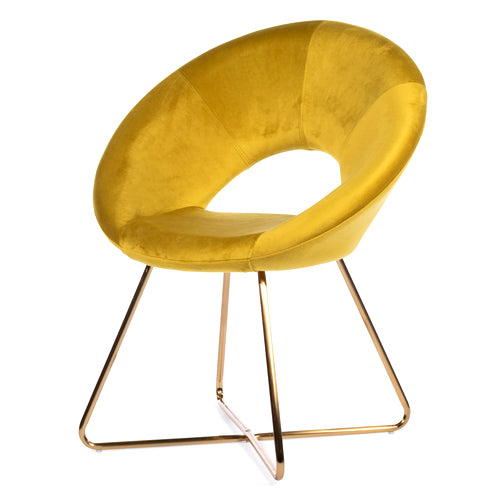OSLO ACCENT VELVET CHAIR, MUSTARD