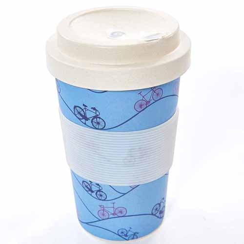 ECO CHIC BAMBOO REUSABLE COFFEE CUP, BIKES