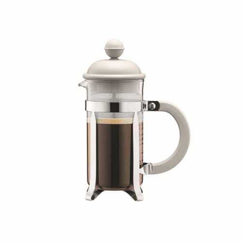 Bodum Caffettiera French Press Coffee Maker, 3 Cup, Off White