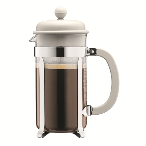 Bodum Caffettiera  French Press Coffee Maker, 8 Cup, Off White