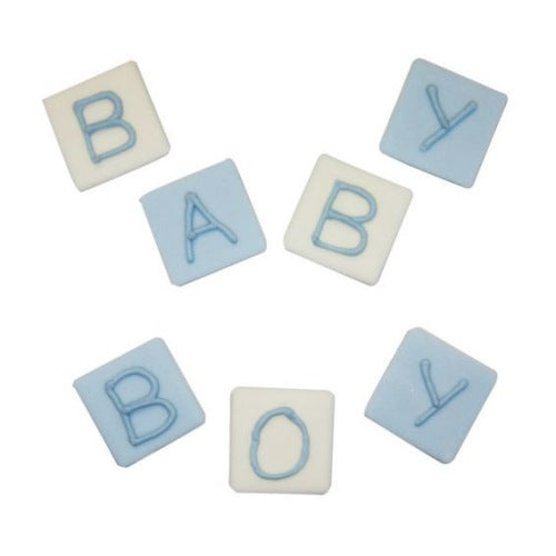 Sugarcraft 'Baby Boy' Blocks, Blue