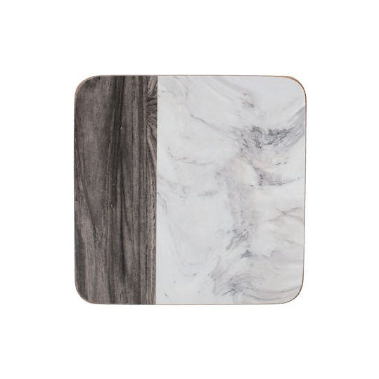 Marble Design Coasters, Set Of 6