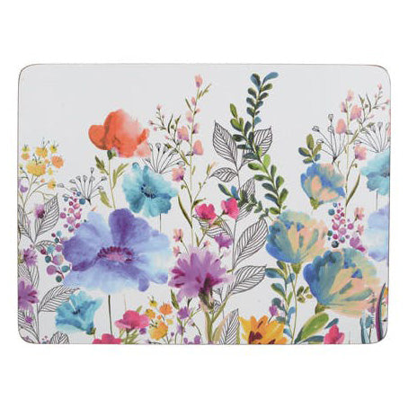 Creative Tops Premium Traditional Floral Placemats, Set Of 6