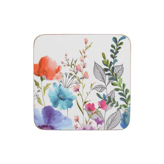 Creative Tops Premium Meadow Floral Coasters, Set Of 6