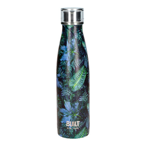 Built Double Walled Stainless Steel Water Bottle, 17oz, Dark Tropics