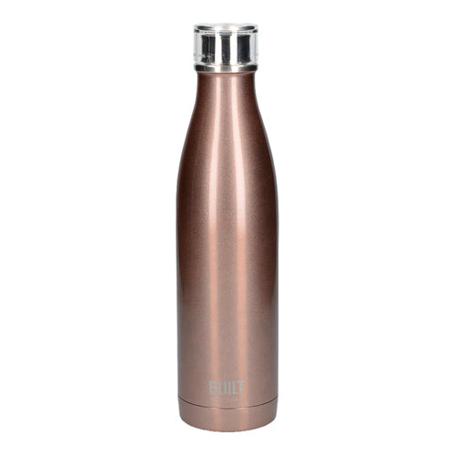 Built Double Walled Stainless Steel Water Bottle, 25oz, Rose Gold