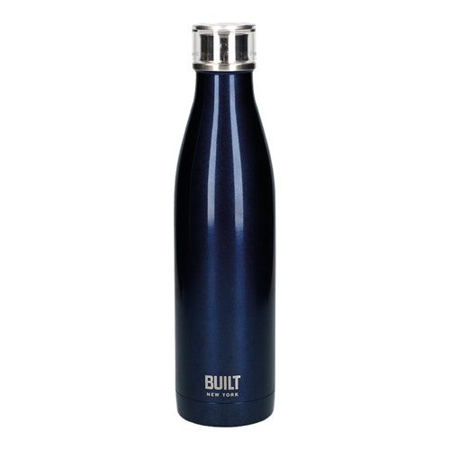 Built Double Walled Stainless Steel Water Bottle, 25oz, Midnight Blue