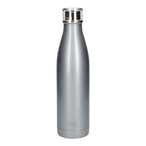 Built Double Walled Stainless Steel Water Bottle, 25oz, Silver
