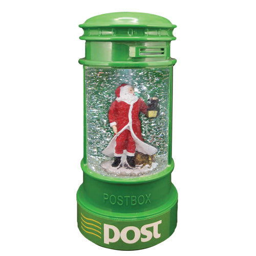 Light Up Christmas Glitter Irish Post Box, Santa