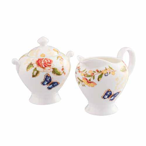 Aynsley Cottage Garden Creamer & Sugar