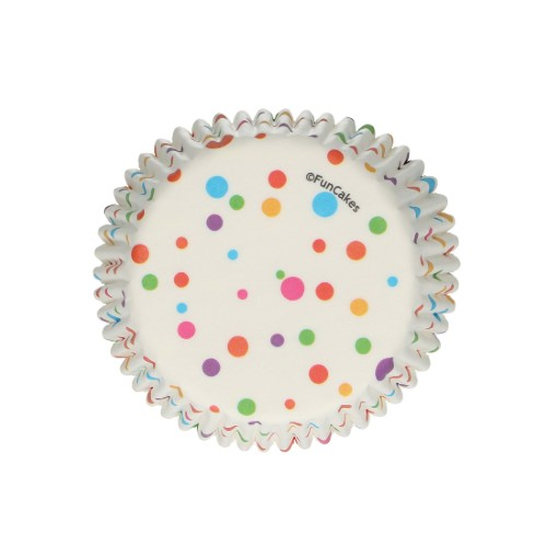CONFETTI CUPCAKE CASES, PACK OF 48