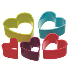 Colourworks Heart Shaped Cookie Cutter Set