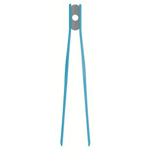 Colourworks Silicone Tweezer Tongs, Blue