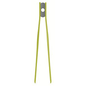 Colourworks Silicone Tweezer Tongs, Green