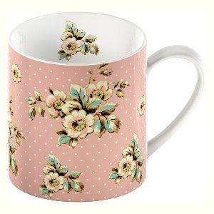 Katie Alice Cottage Flower Fine China Mug, Pink