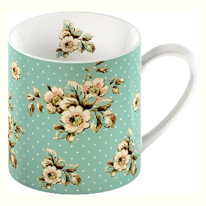 Katie Alice Cottage Flower Fine China Mug, Green