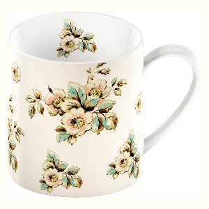 Katie Alice Cottage Flower Fine China Mug, Cream