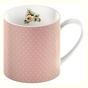 Katie Alice Cottage Flower Fine China Mug, Pink Spots