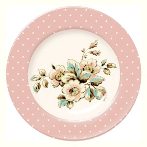 Katie Alice Cottage Flower Porcelain Side Plate, Pink