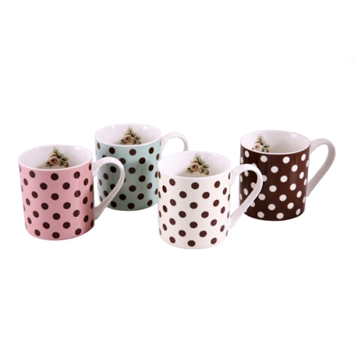 Katie Alice Cottage Flower Spot Mugs, Set of 4