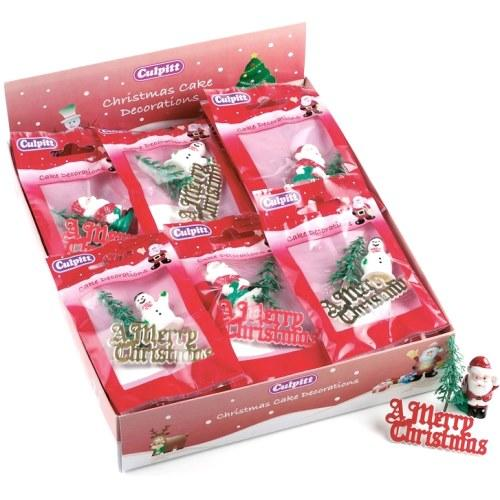 Christmas Cake Decoration Pack, Assorted