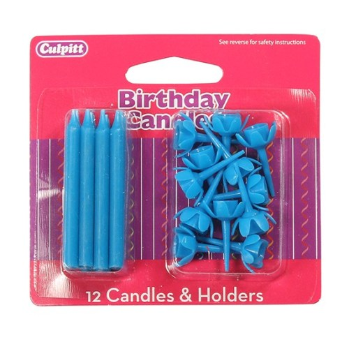 Birthday Candles & Holders, Blue